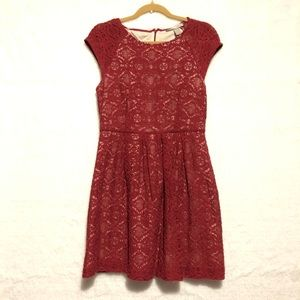 Forever 21 Lacey, red dress